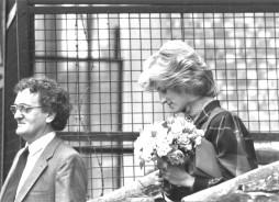Princess Diana visiting the Cognitive Development Unit (medical research council) at University College London
