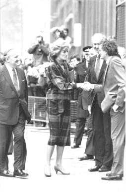 Princess Diana visiting the Cognitive Development Unit (medical research council) at University College London