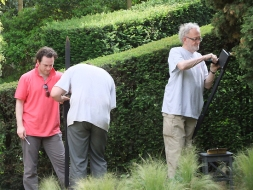 John behind the scenes at Julius Caesar - Paris
